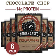 Kodiak Cakes Pancake Power Cakes, Flapjack & Waffle Mix, Chocolate Chip, 18 Ounce (Pack Of 6)
