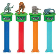 Jurassic World 2 PEZ Click & Play Tin - Dinosaur Dispensers w/ 6 Candy Rolls