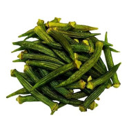 Okra Chips, Sea-Salted, No Color Added, No Sugar Added, Natural, Delicious And Healthy, Bulk Chips!!! (Okra Chips, 2 Lbs)