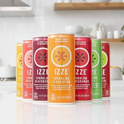 Izze Cherry Lime Straight Pack, 8.4 Fl Oz (24 Count)