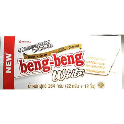 Beng Beng Wafer White 25g. (Pack12) 4 Delicious tastes in one bite
