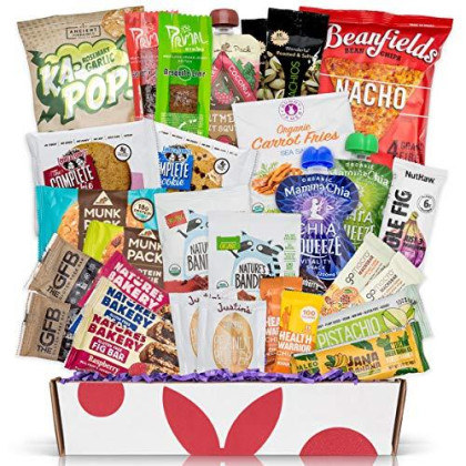 Deluxe Vegan Protein Snacks Box: Mix Of Healthy Vegan Protein Bars, Cookies, Vegan Jerky, Chips & Nuts Health Care Package