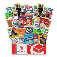 Snackbox Gluten Free Healthy Snacks Care Package (34 Count) For College Students, Exams, Father'S Day, Military, Finals, Office And Gift Ideas. Over 3 Lbs Of Chips, Popcorn, And Granola Bars.