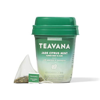 Teavana Jade Citrus Mint, Green Tea With Spearmint And Lemongrass, 60 Count (4 Packs Of 15 Sachets)