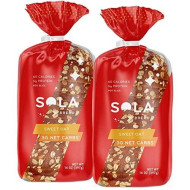 Sola Sweet Oat Bread - Low Carb, Low Calorie, Reduced Sugar, 5G Protein Per Slice - 14 Oz Loaf Of Sandwich Bread (Pack Of 2)