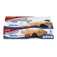 || Entenmann'S | Minis Blueberry Snack Pies| Lightly Glazed | Delicious | Tasty | Yummy | 12 Oz | 6 Individually Wrapped Count | Limited Edition| 1 Box ||