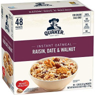 Quaker Quaker Instant Oatmeal Raisin, Date, Walnut 48Ct, 48 Count