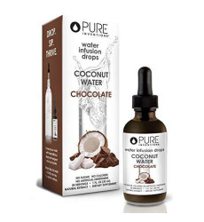 Pure Inventions, Pure Hydration - Coconut Water Chocolate Infusion Drops (30 Servings) - 1 Ounce