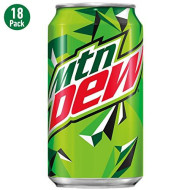Mtn Dew, 12 Fl Oz Cans, Pack Of 18 (Packaging May Vary)