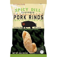 Southern Recipe Small Batch Classic Pork Rinds | Keto Snacks, Low Carb Snacks, High Protein, Gluten Free | Spicy Dill, 4 Ounce Bag (Pack Of 6)