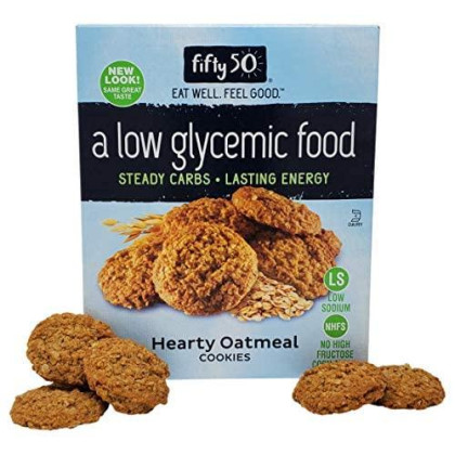Fifty50 Foods Low Carb, Low Glycemic, Hearty Oatmeal Cookies With No High Fructose Corn Syrup, 7 Ounce (Pack Of 3)