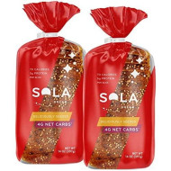 Sola Deliciously Seeded Bread - Low Carb, Low Calorie, Reduced Sugar, 5G Protein Per Slice - 14 Oz Loaf Of Bread (Pack Of 2)