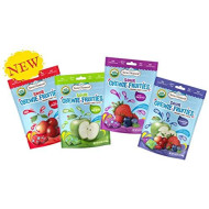 Torie & Howard Organic Gluten Free Chewie Fruities Candy 4 Flavor Variety Bundle: Sour Apple, Sour Cherry, Sour Assortment, Sour Berry. 4oz (4 Pack)
