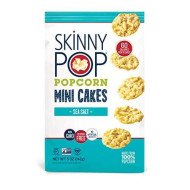 Skinnypop Sea Salt Popcorn Cakes, Healthy Snacks, 5Oz (Pack Of 12)
