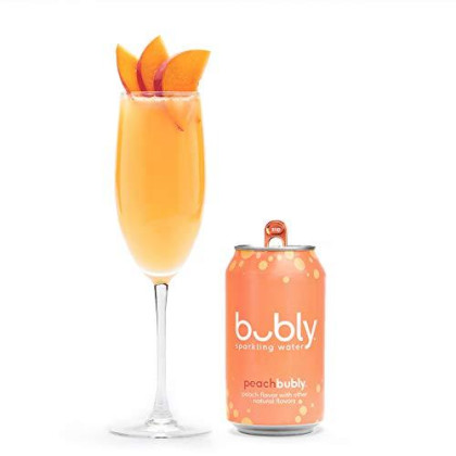 Bubly Sparkling Water, Peach, 12 Fl Oz. Cans (18 Pack)