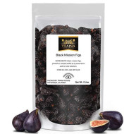 Traina Home Grown California Dried Whole Black Mission Figs - No Added Sugar, Non Gmo, Gluten Free, Kosher Certified, Vegan, Packed In Resealable Pouch (2 Lbs)