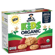Quaker Kids Organic Multigrain Bites, Strawberry, 30 Pouches, Usda Certified Organic