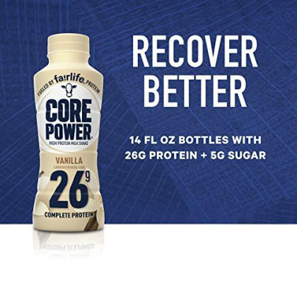 Core Power Fairlife Core Power High Protein Milk Shake, Vanilla, 14 Fl Oz (Pack Of 12)