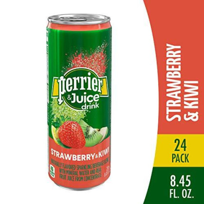 Perrier & Juice Drink, Kiwi Strawberry, 8.45 Fluid Ounce (24 Pack)