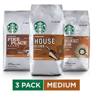 Starbucks Medium Roast Ground Coffee Variety Pack, 12 Ounce (Pack Of 3)