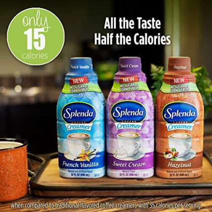 Splenda Sugar Free, Low Calorie Hazelnut Coffee Creamer. Single 32 Fl Oz Bottle