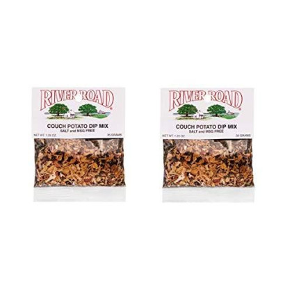 River Road Salt-Free No Msg Couch Potato Spinach Dip Mix, 1.25 Ounce Bag (Pack Of 2)