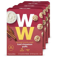 Ww Iced Cinnamon Puffs - Gluten-Free, 2 Smartpoints - 4 Boxes (20 Count Total) - Weight Watchers Reimagined