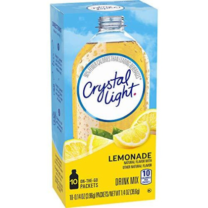 Crystal Light On The Go Natural Lemonade, 10 Count Packets (Pack Of 3)
