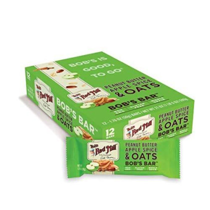 Bob'S Red Mill Peanut Butter Apple Spice And Oats Bob'S Bar (Case Of 12)