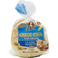 "Lot of Ten ( 10 Bags) -GREEK Papa Pita 7"" Greek Pita Flat Bread, 12 ct ( each bag) -Great for personal pizzas, wedges for dips and hummus, gyros and sandwiches (Limited Quantity Available)"