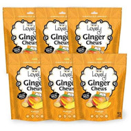 Vegan Mango Ginger Chews - Lovely Candy Co. 5Oz Bag - Non-Gmo, Gluten Free, Vegan | Made With Real Indonesian Ginger For A Good Kick!