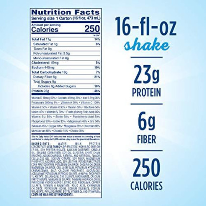 Glucerna Hunger Smart Meal Size, Diabetes Nutritional Shake, Meal Replacement To Help Manage Blood Sugar, Homemade Vanilla 16 Fl Oz, 12 Count