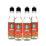 Starbucks Naturally Flavored Coffee Syrup, Hazelnut, Pack of 4