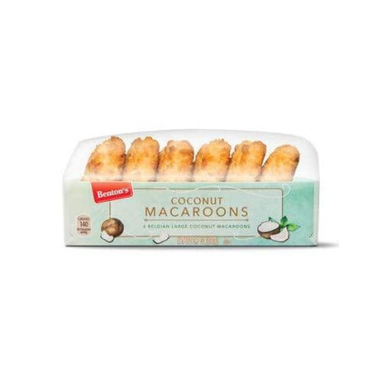 Belgian Coconut Macaroons Jumbo Soft Macaroons 2.5 Inches - Imported From Belgium. Each Box Contains 6 Macaroons (Plain) 2 Count