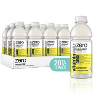 Vitaminwater Electrolyte Enhanced Water W/ Vitamins, Zero Squeezed Lemonade, 20 Fl. Oz (Pack Of 12)