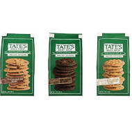 Tate's Bake Shop Cookies 3 Flavor Variety Bundle: (1) Tate's Chocolate Chip Cookies, (1) Tate's Double Chocolate Chip Cookies, & (1) Tate's White Chocolate Macadamia Nut Cookies, 7 oz ea