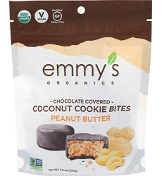 Emmys, Cookie Bite Coconut Chocolate Peanut Butter Organic, 3.5 Ounce