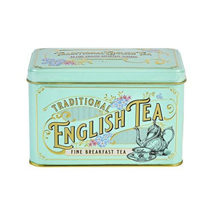 New English Teas Vintage Victorian English Breakfast Tea Tin 40 Teabags