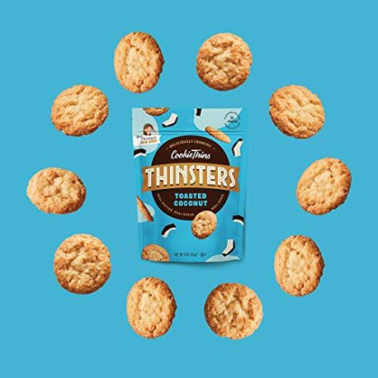 THINSTERS Cookies, Toasted Coconut, 16 Oz (Pack Of 2), Non-GMO, Crunchy Cookies