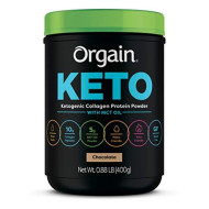 Orgain Keto Collagen Protein Powder With Mct Oil, Chocolate - Paleo Friendly, Grass Fed Hydrolyzed Collagen Peptides Type I And Iii, Dairy Free, Lactose Free, Gluten Free, Soy Free, 0.88 Pound