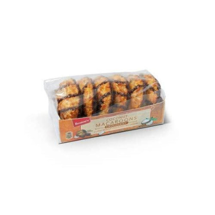 Belgian Coconut Macaroons Jumbo Soft Macaroons 2.5 Inches - Imported From Belgium. Each Box Contains 6 Macaroons (Chocolate) 2 Count