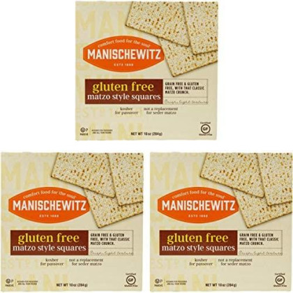 Manischewitz All Natural Gluten-Free Matzo Style Squares, 10 Ounce 3 Pack