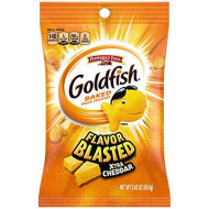 Pepperidge Farm Goldfish Blasted Xtra Cheddar Crackers, 2.45 Ounce Snack Packs, 30 Count
