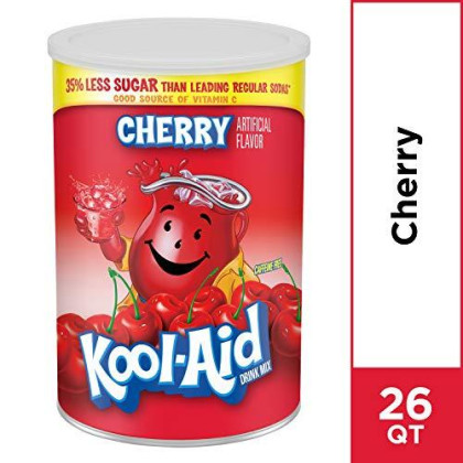 Kool Aid Jumbo Drink Mix, Cherry, 63 Oz