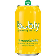 Bubly Sparkling Water, Pineapple, 12 Fl Oz. Cans, (18 Pack)