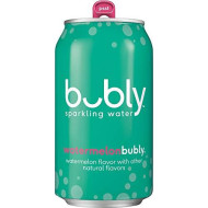 Bubly Sparkling Water, Watermelon, 12 Fl Oz Cans, (18 Pack)