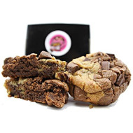 Baby gs Chocolate Chip Cookies Gourmet Gift Basket-Brownie Desserts for Delivery-Fresh Baked Food Gift Set Box 2 Lb. Indiv. Wrapped Corporate Birthday Mothers Fathers Holiday Families