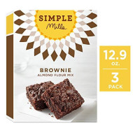 Simple Mills Almond Flour Mix, Brownie, 12.9 Ounce (Pack Of 3)