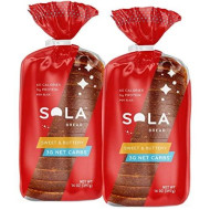 Sola Sweet And Buttery Bread - Low Carb, Low Calorie, Reduced Sugar, 5G Protein Per Slice - 14 Oz Loaf Of Sandwich Bread (Pack Of 2)