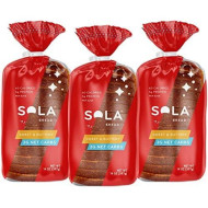 Sola Sweet And Buttery Bread - Low Carb, Low Calorie, Reduced Sugar, 5G Protein Per Slice - 14 Oz Loaf Of Sandwich Bread (Pack Of 3)